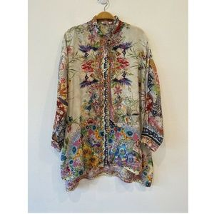Johnny Was Floral Print Button Down Long Sleeve XS